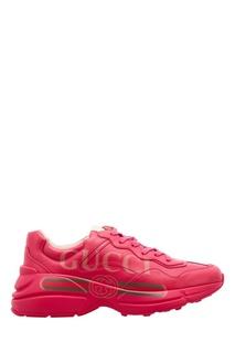 Розовые кроссовки Rhyton Gucci