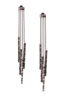 Серьги с кристаллами Caviar Jewellery