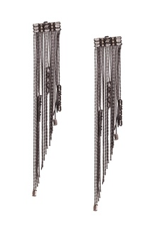 Серьги-подвески с кристаллами Caviar Jewellery