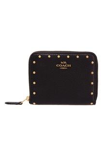 Черный кошелек с хольнитенами Coach