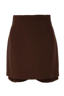 Коричневая юбка-шорты Ulyana Sergeenko