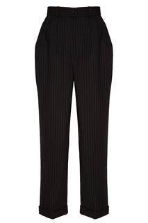 Полосатые брюки с отворотами Ulyana Sergeenko
