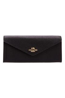 Черный кошелек Soft wallet Coach