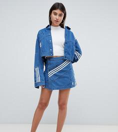Джинсовая юбка с диагональной полоской adidas Originals X Danielle Cathari - Синий