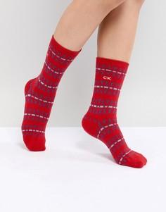Носки в подарочной упаковке Calvin Klein Holiday - Красный