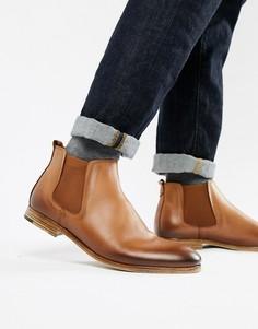 Светло-коричневые кожаные ботинки челси ALDO Albiston - Рыжий