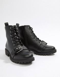 Ботильоны на шнуровке London Rebel - Черный