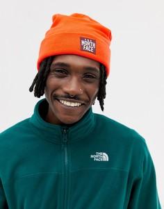 Оранжевая шапка-бини The North Face - Оранжевый