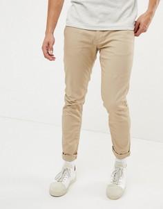 Хлопковые узкие брюки чинос Jefferson - Коричневый