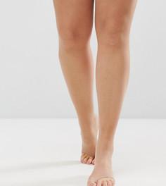 Бежевые колготки плотностью 8 ден с открытым носком под босоножки ASOS DESIGN Curve - Черный