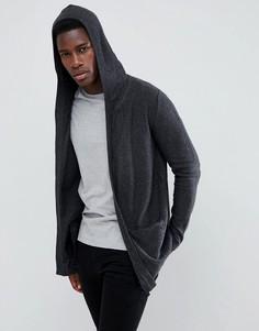 Длинный кардиган с капюшоном Esprit - Серый