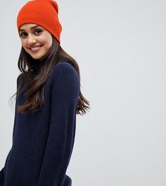 Оранжевая шапка-бини в рубчик Stitch & Pieces - Оранжевый