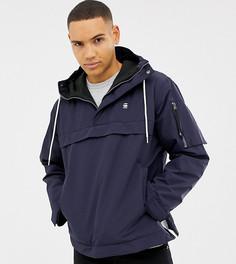 Синяя куртка-анорак с капюшоном G-Star Rackam - Синий