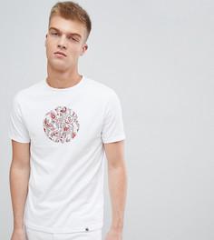Белая футболка с принтом пейсли на логотипе Pretty Green - Белый