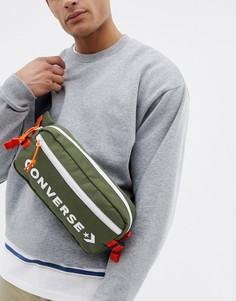 Зеленая сумка-кошелек на пояс в стиле ретро Converse - Зеленый