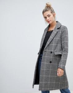 Удлиненное строгое пальто в клетку Pimkie - Мульти