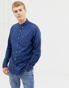 Оксфордская рубашка с длинными рукавами Hollister - Темно-синий