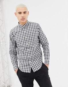 Поплиновая рубашка с длинными рукавами Abercrombie & Fitch - Серый