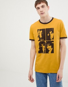 Желтая футболка с принтом Pretty Green x The Beatles - Желтый