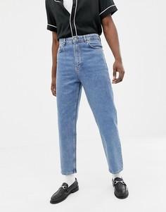 Синие винтажные джинсы с завышенной талией ASOS DESIGN - Синий