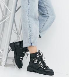 Черные походные ботинки со шнуровкой для широкой стопы RAID Daelyn - Черный