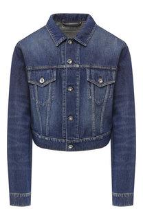 Джинсовая куртка с потертостями Paco Rabanne