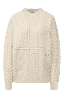 Шерстяной пуловер фактурной вязки Golden Goose Deluxe Brand