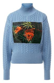 Шерстяной пуловер с вышитым принтом Kenzo