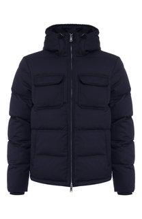 Пуховая куртка на молнии с капюшоном Emporio Armani