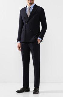 Шерстяной костюм с двубортным пиджаком Emporio Armani