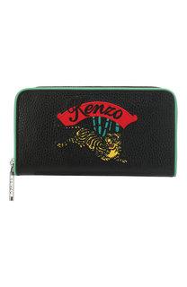 Кожаный кошелек на молнии Kenzo
