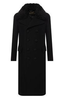 Двубортное пальто из кашемира прямого кроя Burberry