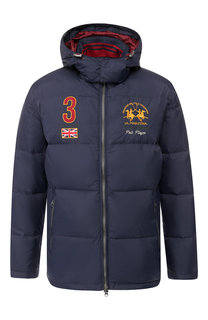 Пуховая куртка на молнии с капюшоном La Martina
