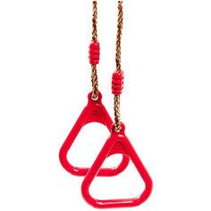 Гимнастические кольца Kett-Up на верёвках, красные