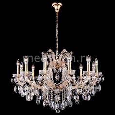 Подвесная люстра HOLLYWOOD SP12 GOLD Crystal lux