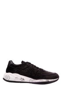 Черные бархатные кроссовки Liu Premiata