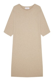 Бежевое платье-футболка D.O.T.127