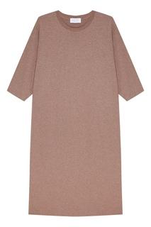 Бежевое платье-миди D.O.T.127