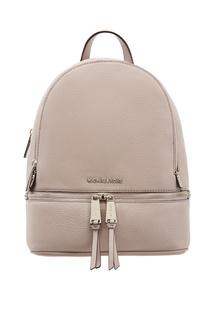 Серый рюкзак Rhea Zip Michael Michael Kors