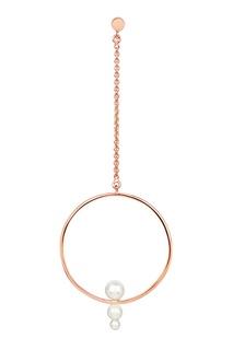 Моносерьга Drop Multi Pearl с покрытием из розового золота из коллекции Milky way Lav`Z