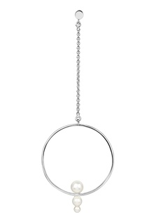 Серебряная моносерьга Drop Multi Pearl из коллекции Milky way Lav`Z