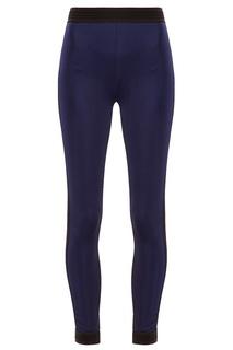 Синие брюки с контрастными вставками NO KA OI