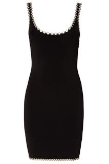Черное платье с клепками Alexander Wang
