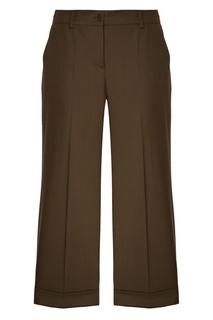 Зеленые шерстяные брюки P.A.R.O.S.H.