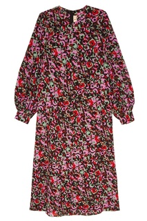 Шелковое платье с цветочным принтом Marni