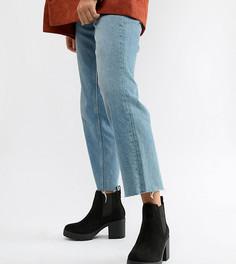 Ботинки челси на каблуке для широкой стопы Truffle Collection - Черный