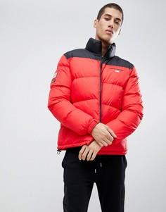 Красная дутая куртка с небольшим логотипом Penn Sport - Красный