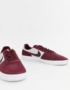Бордовые кеды Nike SB AH2260-601 - Красный