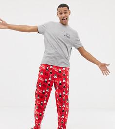 Новогодняя пижама с принтом ASOS DESIGN - Красный
