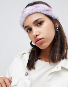 Плетеная повязка с блестками ASOS DESIGN - Фиолетовый
